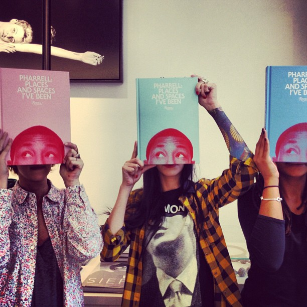 pharrell recaps signing event for places and spaces ive